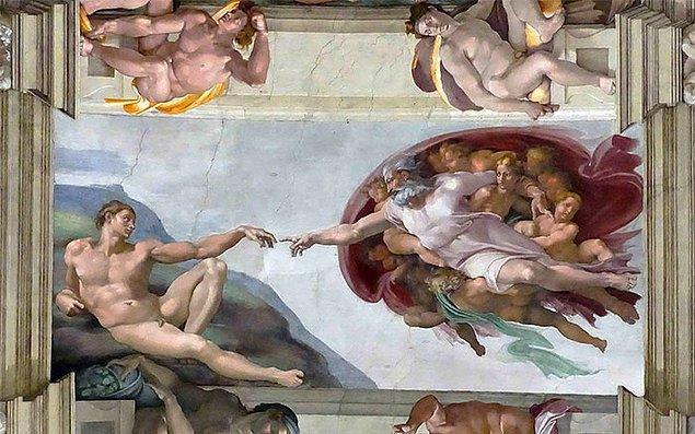 33. Eğer homoerotik bir çizimse ve bir duvara ya da tavana yapılmışsa muhtemelen Rönesans dönemine ait bir resimdir.