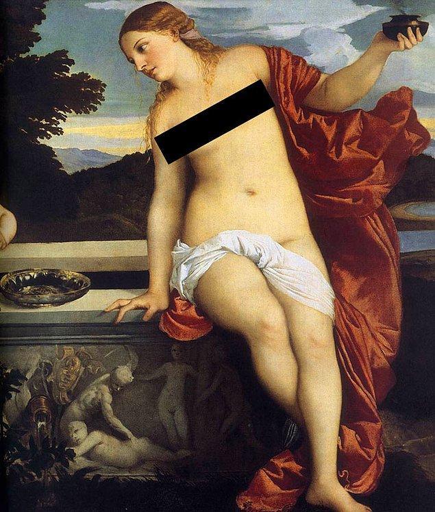 35. Eğer resimde sarışın bir kadın ve kalın bacaklar varsa bu Titian'dır.