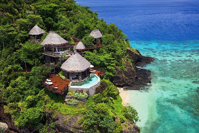 2. Fiji'deki Laucala Adası