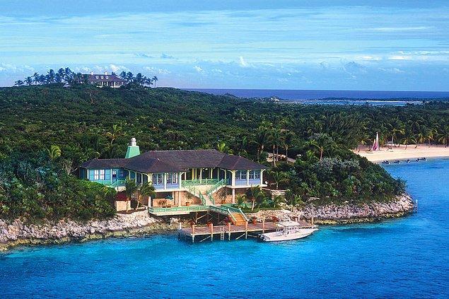 8. Bahamalar'daki Musha Cay Adası