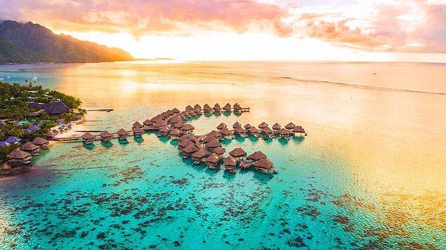 11. Yine Fransız Polinezyası'nda Bulunan Moorea Adası