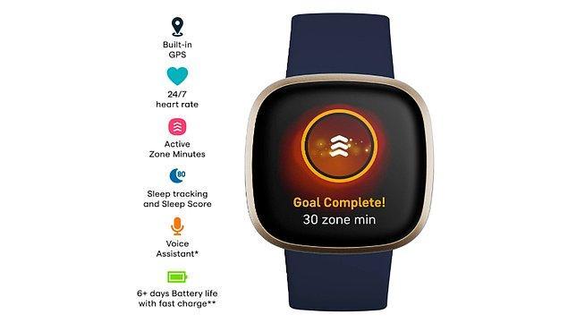 1. Akıllı saat konusunda çığır açan Fitbit ile fit olun.