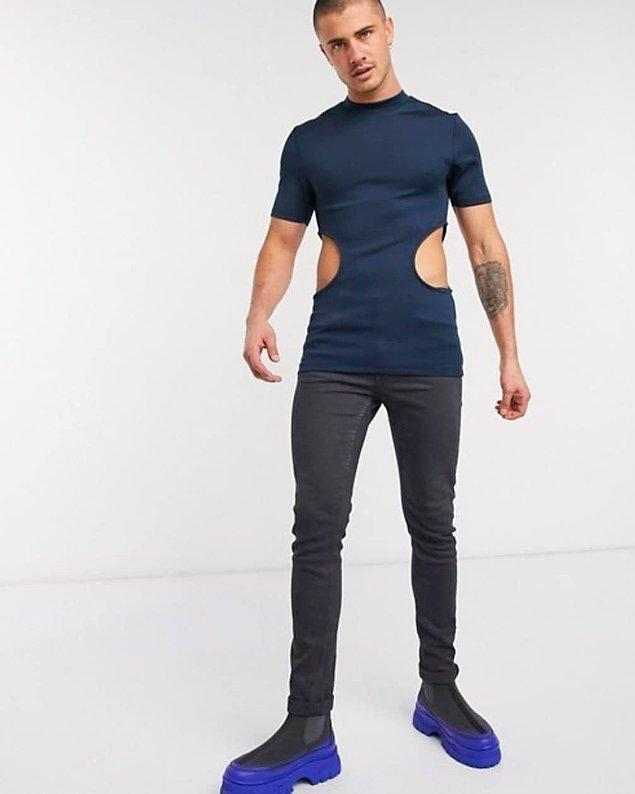 3. Erkekler için pencereli kıyafetler moda olacak belli ki.
