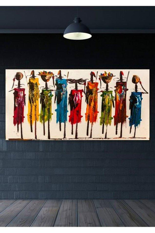 9. ''Totemler'' kanvas tablo...