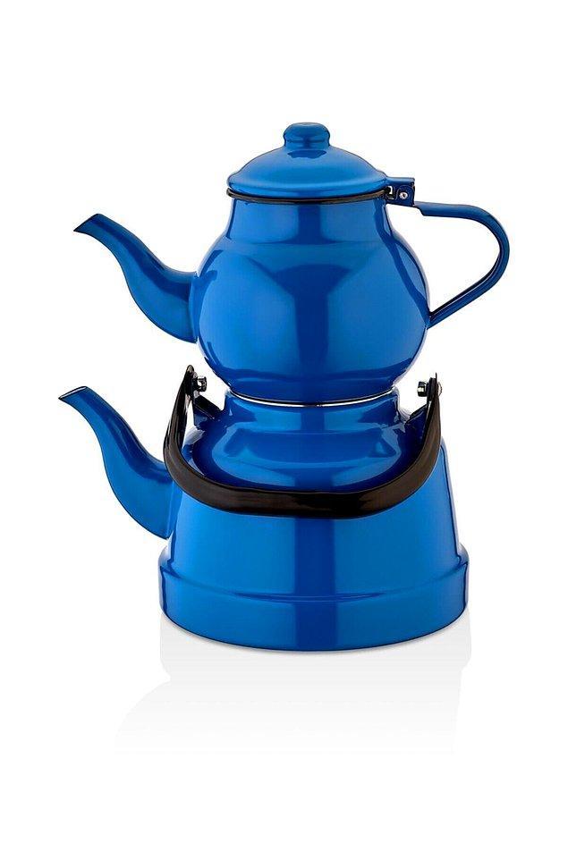 10. Çaydanlık, emaye denince ilk akla gelenlerden...