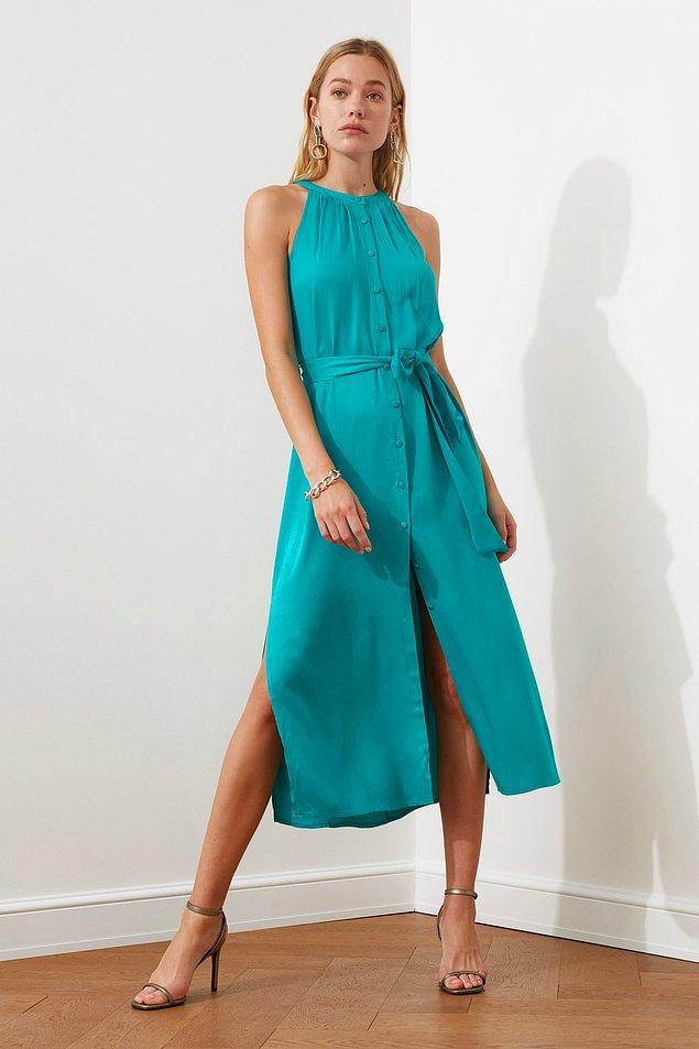 15. Bu elbiseden plaj elbisesi bile olabilir.