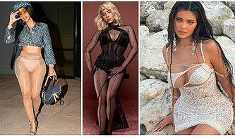 Ünlülerin Son Dönemde Giydiği ve Transparan Kıyafetlerin Yeniden Moda Olduğunu Gösteren Kıyafetleri