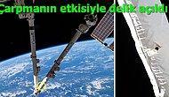 Uluslararası Uzay İstasyonu'na Enkaz Parçası Çarpması Sonucu İstasyonda Delik Açıldı!