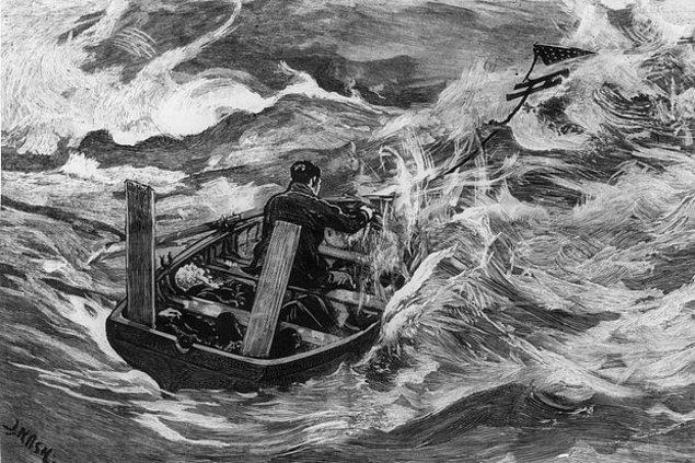 Kaptan Thomas yat batarken derhal filikayı denize indirir ve tüm mürettebat yanına yalnızca 2 kutu şalgam alır.
