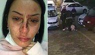 Polis Bir Kadını Yere Yatırıp Dövdü, Diğer Polisler Seyretti