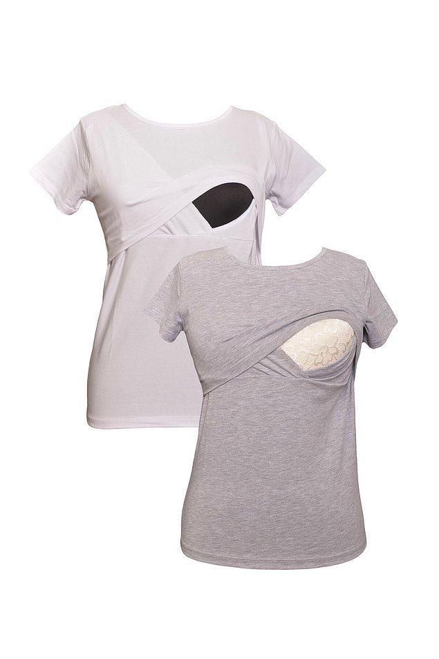 18. Yaz aylarında kullanımı ideal olan emzirme t-shirtleri de çok kullanışlı.