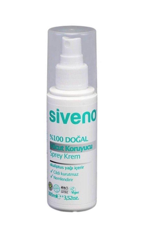 8. Siveno'nun doğal vücut koruyucu spreyini sineklerin yaklaşmasını önlemek için güvenle kullanabilirsiniz.