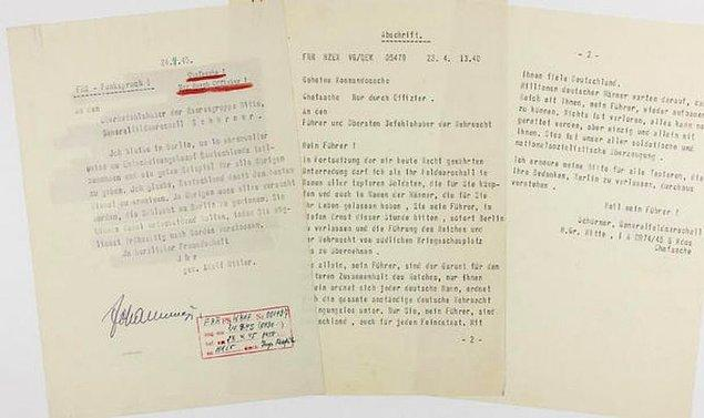 Evlendikten hemen sonra Hitler kendisi ile Braun'un intihar ettikten sonra kadavralarının nasıl ortadan kalkacağına dair vasiyet yazdı. Ne romantiklik!