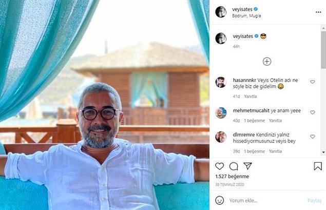 Peker'in Paramount otelde kaldığını söylediği Habertürk'ten Veyis Ateş'in instagram hesabındaki paylaşımları, burada kaldığını doğruluyor.