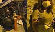 Bir Erkek Tarafından Sokak Ortasında Darp Edilen Kadını Motosikletli Grup Kurtardı