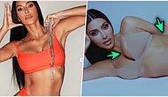 Sansasyonları ile Dillerden Düşmeyen Kim Kardashian Yine Photoshop'un Ayarını Kaçırdı!