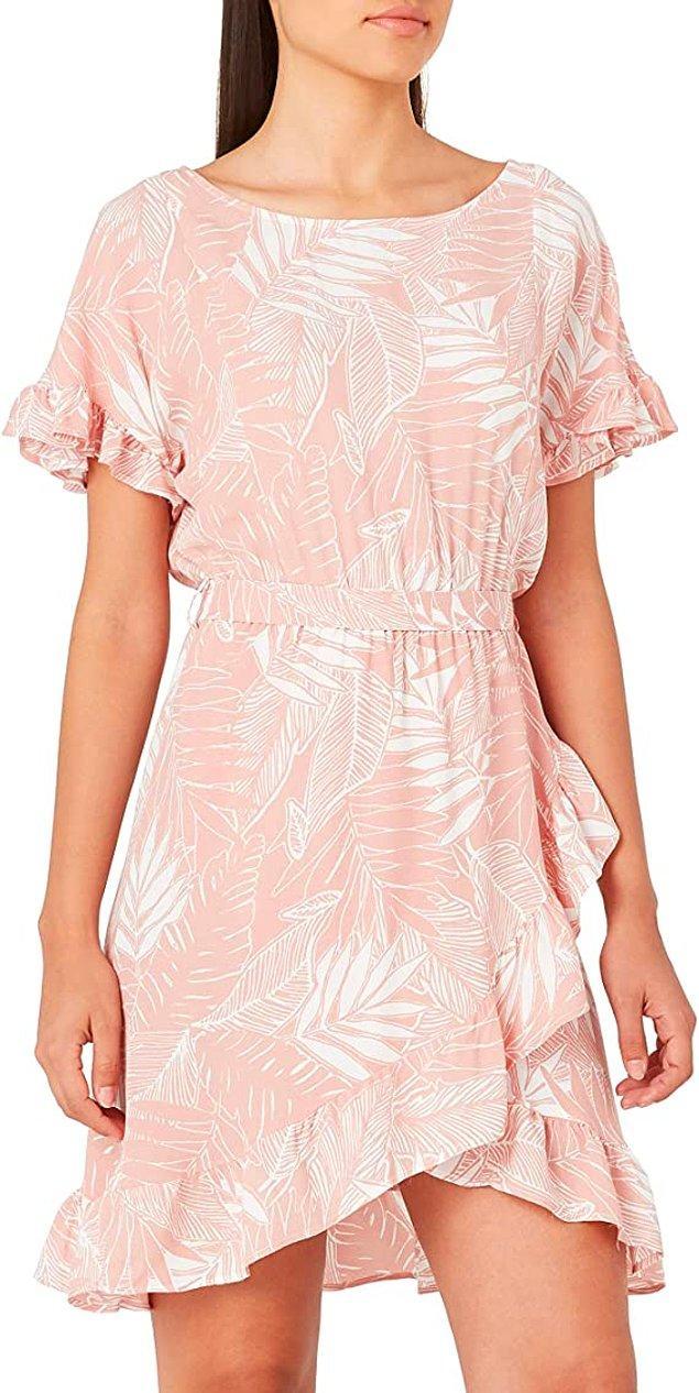 20. Koton marka desenli elbise günlük kullanım için ideal ve şu anda şahane indirimde.