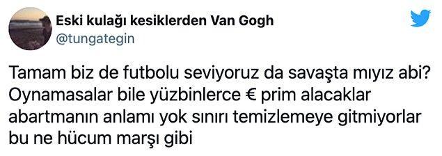 Futbolun yalnızca bir spor olduğunu savunan Twitter kullancıları Kıraç'ı eleştirdi. Bazı yorumlar şöyle 👇