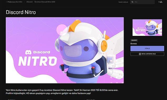 2. Adım: Discord Nitro'yu satın alma