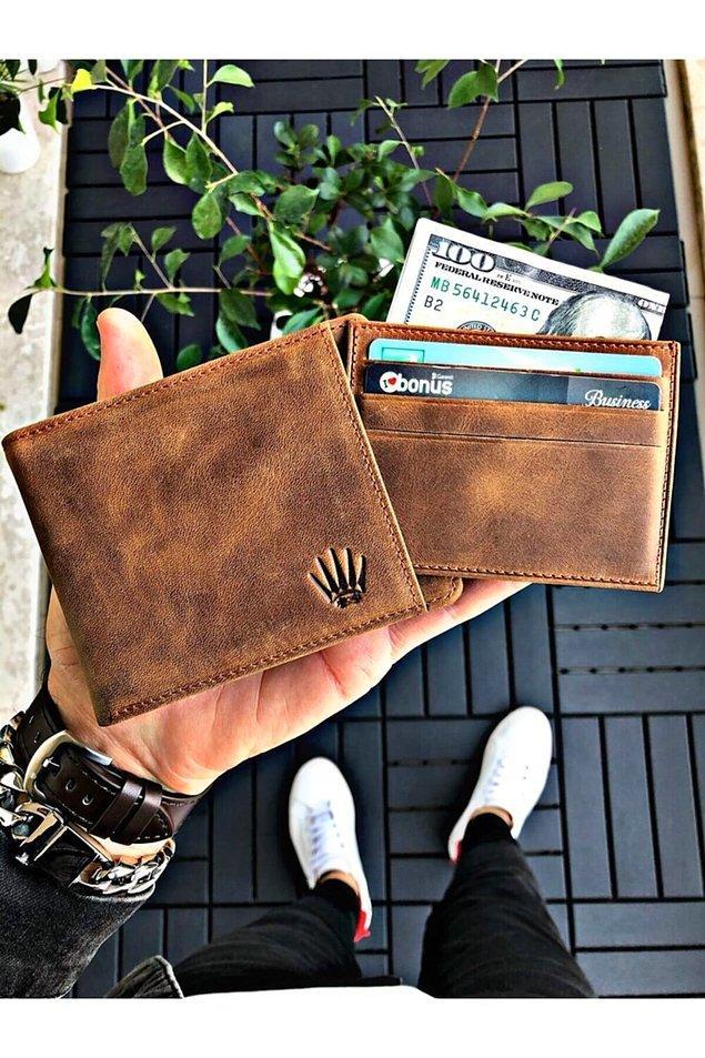 5. Deri bir cüzdanın şıklığına hangi baba hayır diyebilir?