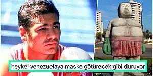 'Boğazın Boğası' Lakaplı Ağır Sıklet Boks Şampiyonu Sinan Şamil Sam'ın Mersin'de Yapılan Bi' Acayip Heykeli