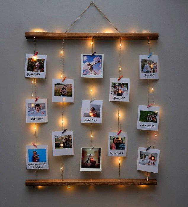 8. Birlikte çekildiğiniz fotoğraflarla süsleyeceğin bir köşe hazırlayabilirsin...