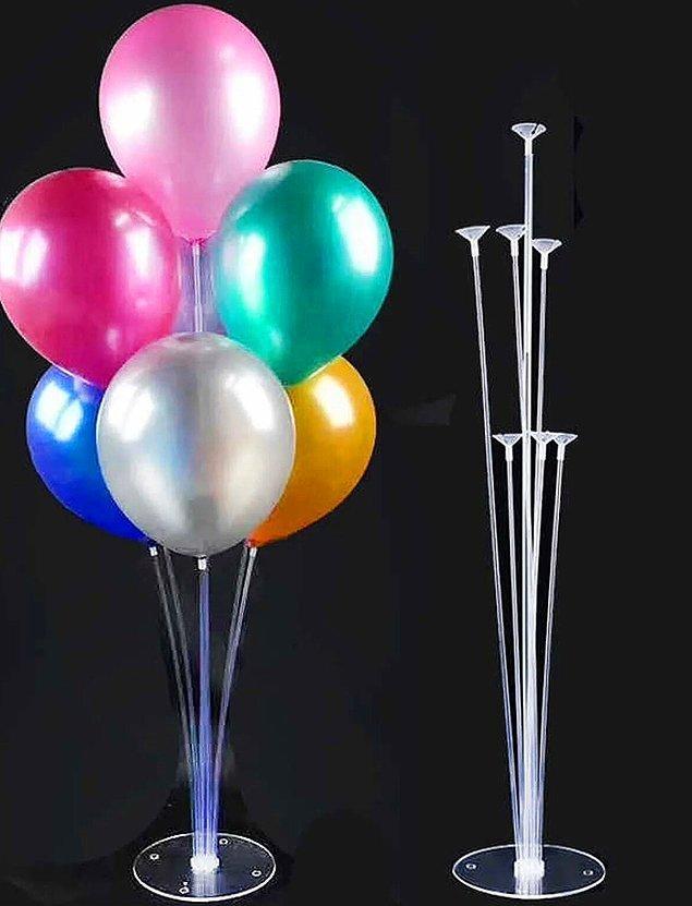 7. Ve balonlar için stant kullanabilirsin...