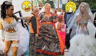 Düğün Günlerinde Korkunç Gelinlik Modelleri Tercih Eden 13 Zevksiz Gelin