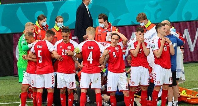 Şimdi hemen geçiyorum ikinci benzemez olaya, iki gün önceki Danimarka-Hollanda maçında kalp krizi geçiren Danimarkalı futbolcu Christian Eriksen'e.