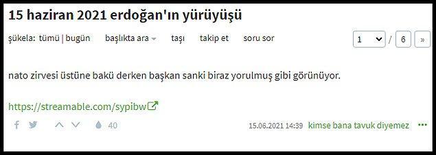 Cumhurbaşkanı Recep Tayyip Erdoğan'ın Bakü'deki o yürüyüş anları ise Ekşi Sözlük'te gündem oldu: 👇