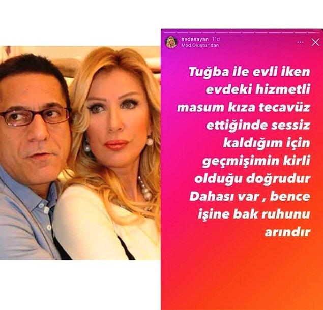 Tabii ki Seda Sayan bu açıklamalardan sonra durmadı ve Instagram hesabından çok ciddi iddialarda bulundu.