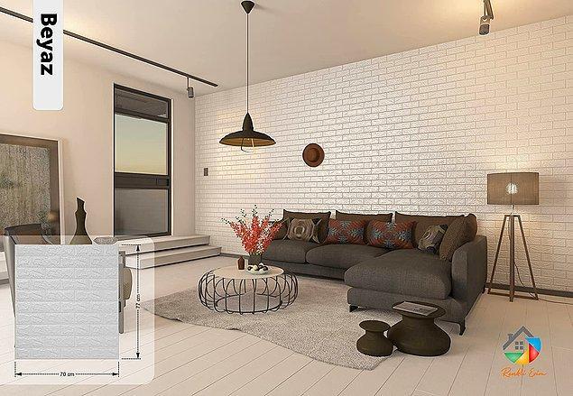 17. Evinizde estetik duvarlara sahip olmak zor değil...