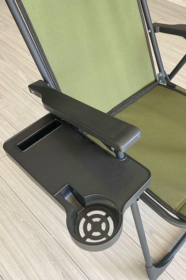 8. Kullandığım kamp sandalyesinin bardaklığı yoksa...