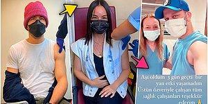 Koronavirüs Aşısı Olurken Çektikleri Fotoğrafları Farkındalık Yaratmak Adına Paylaşan 19 Ünlü İsim