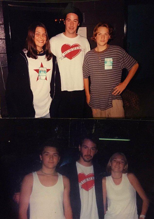 """11. """"Keanu Reeves ile 14 ve 17 yaşımdayken karşılaşmıştım. İşin tuhafı ikisinde de aynı tişörtü giyiyordu."""""""
