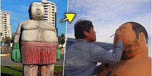 'Boğazın Boğası' Lakaplı Sinan Şamil Sam'ın Mersin'de Yapıldığı İddia Edilen Heykeli Bakın Ne Çıktı!