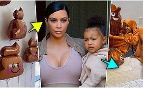 Olaysız Tek Günü Yok! Kim Kardashian Kızı North İçin Kaka Emojisi Temalı Bir Doğum Günü Partisi Düzenledi