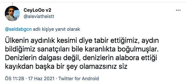 Selda Bağcan'a gelen sosyal medya tepkilerinin bir kısmı da aşağıda