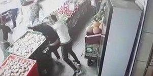 Esenyurt'ta Manavı 'Soğan' ile Dövdüler