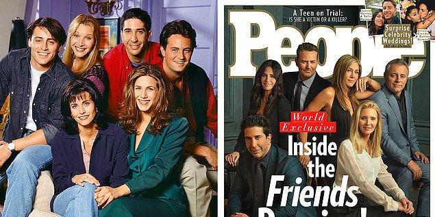 """4. 2004 yılında sona eren ve yıllar sonra bile hala popülerliğini koruyan dizi """"Friends"""", özel bir bölümle de olsa geri döndü."""