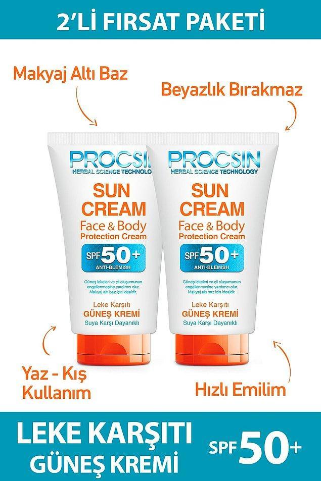 8. Güneş kremi denilince aklımıza artık Procsin geliyor.