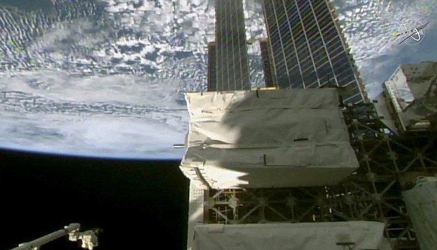 Bu panellerle birlikte Uluslararası Uzay İstasyonu'nun ihtiyaç duyduğu enerjinin bir kısmının karşılanacağı söylendi.