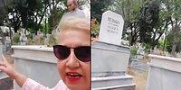 Eşinin Eski Eşinin Mezarını Ziyaret Edip Videoya Alan Kadın Viral Oldu
