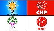 Şu An Türkiye'de Faal Olan 106 Siyasi Parti