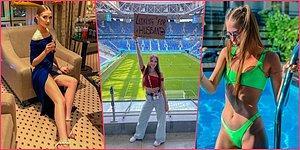 EURO 2020'de ''Koca Arıyorum'' Pankartıyla Maç Maç Gezen Rus Kadın