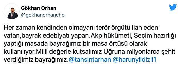 'Bayrak sevdasını edebiyattan öteye geçiremeyen AKP'