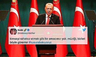 Erdoğan'ın Müzisyenlere 'Kimsenin Kimseyi Rahatsız Etmeye Hakkı Yoktur' Sözleri Tepki Çekti: #kusurabakıyoruz