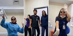 Eğlenmek 'En Çok' Onların Hakkı: 'Aşk Bu Kızılötesi' Şarkısı Eşliğinde Eğlenen Sağlık Çalışanları