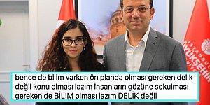 Ekrem İmamoğlu'yla Fotoğrafını Paylaşan Genç Kadının Göbek Deliğine Takan Kullanıcı