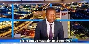 Haber Bültenini Yarıda Kesip Maaşlarını Alamadıklarını Söyleyen Haber Spikeri